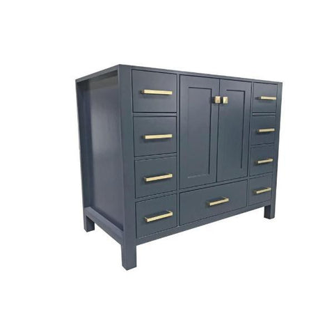 "Ariel Cambridge 42"" Midnight Blue Transitional Vanity Base Cabinet A043S-BC-MNB A043S-BC-MNB"