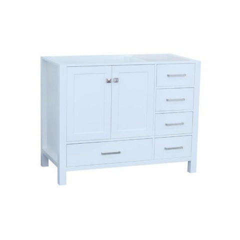 "Image of Ariel Cambridge 42"" White Transitional Vanity Base Cabinet A043S-L-BC-WHT"