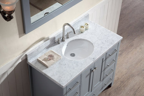 "Image of Ariel Cambridge 43"" Single Sink Vanity Set in Grey A043S-GRY"