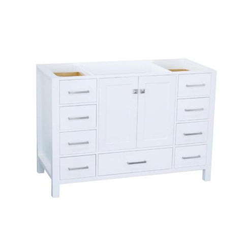 "Ariel Cambridge 48"" White Transitional Vanity Base Cabinet A049S-BC-WHT A049S-BC-GRY"