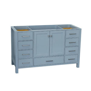 "Ariel Cambridge 54"" Grey Transitional Vanity Base Cabinet A055S-BC-GRY A055S-BC-ESP"