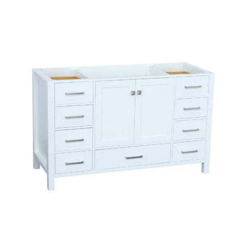 "Ariel Cambridge 54"" White Transitional Vanity Base Cabinet A055S-BC-WHT A055S-BC-GRY"