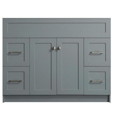 "Image of Ariel Hamlet 42"" Grey Modern Single Sink Bathroom Vanity Base Cabinet F043S-BC-GRY F043S-BC-BLK"