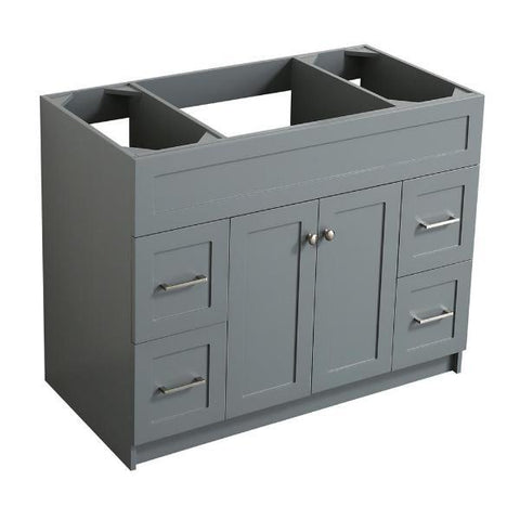 "Ariel Hamlet 42"" Grey Modern Single Sink Bathroom Vanity Base Cabinet F043S-BC-GRY F043S-BC-BLK"