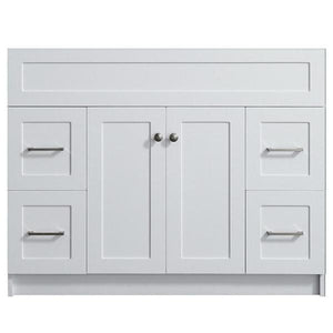 "Ariel Hamlet 42"" White Modern Single Sink Bathroom Vanity Base Cabinet F043S-BC-WHT F043S-BC-GRY"