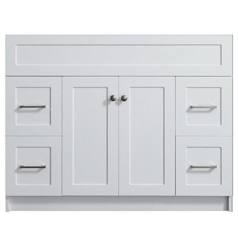 "Image of Ariel Hamlet 42"" White Modern Single Sink Bathroom Vanity Base Cabinet F043S-BC-WHT F043S-BC-GRY"