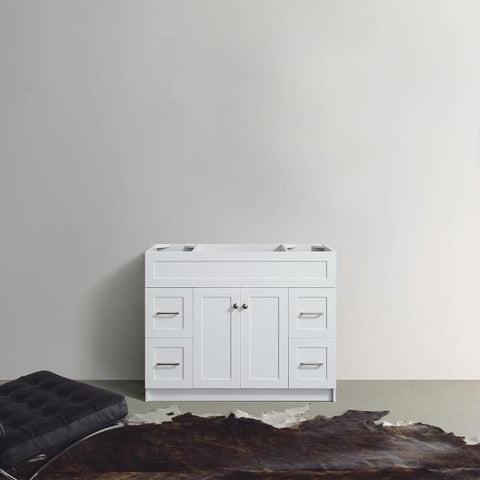 "Ariel Hamlet 42"" White Modern Single Sink Bathroom Vanity Base Cabinet F043S-BC-WHT F043S-BC-WHT"