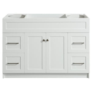 "Ariel Hamlet 48"" White Modern Single Sink Bathroom Vanity Base Cabinet F049S-BC-WHT F049S-BC-GRY"