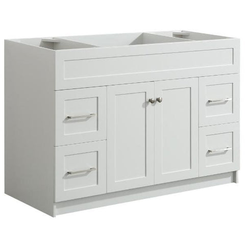 "Ariel Hamlet 48"" White Modern Single Sink Bathroom Vanity Base Cabinet F049S-BC-WHT F049S-BC-WHT"