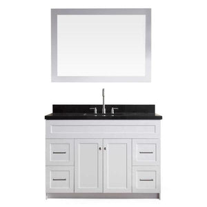"Ariel Hamlet 49"" White Modern Single Sink Vanity Set F049S-AB-WHT"