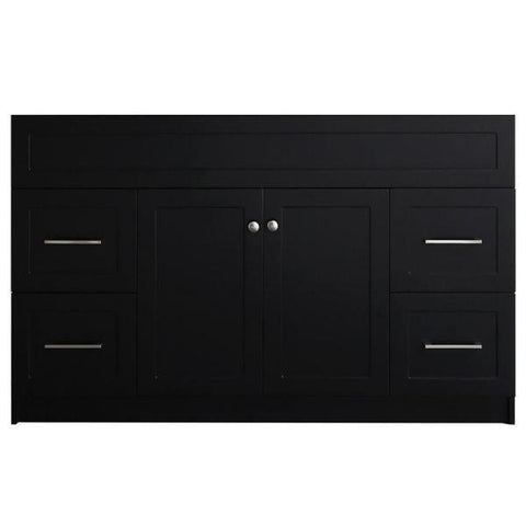 "Ariel Hamlet 54"" Black Modern Single Sink Bathroom Vanity Base Cabinet F055S-BC-BLK F049S-BC-BLK"