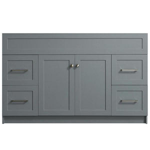 "Ariel Hamlet 54"" Grey Modern Single Sink Bathroom Vanity Base Cabinet F055S-BC-GRY F055S-BC-BLK"