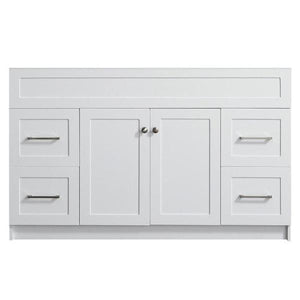 "Ariel Hamlet 54"" White Modern Single Sink Bathroom Vanity Base Cabinet F055S-BC-WHT F055S-BC-GRY"