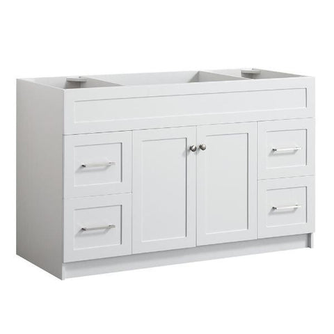 "Ariel Hamlet 54"" White Modern Single Sink Bathroom Vanity Base Cabinet F055S-BC-WHT F055S-BC-WHT"
