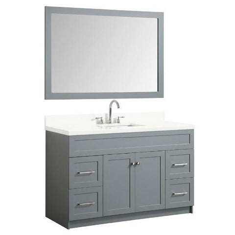 "Ariel Hamlet 55"" Grey Modern Single Sink Vanity Set F055S-WQ-GRY"