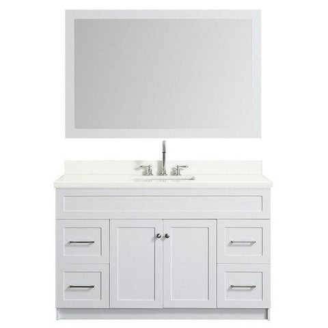 "Image of Ariel Hamlet 55"" White Modern Single Sink Vanity Set F055S-WQ-WHT F055S-WQ-WHT"