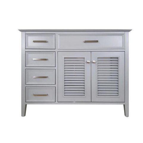 "Image of Ariel Kensington 42"" Grey Transitional Single Sink Base Cabinet D043S-L-BC-GRY"