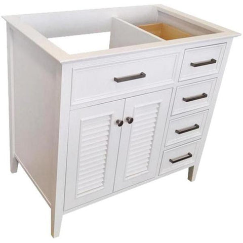 "Image of Ariel Kensington 42"" White Transitional Single Sink Base Cabinet D043S-L-BC-WHT"