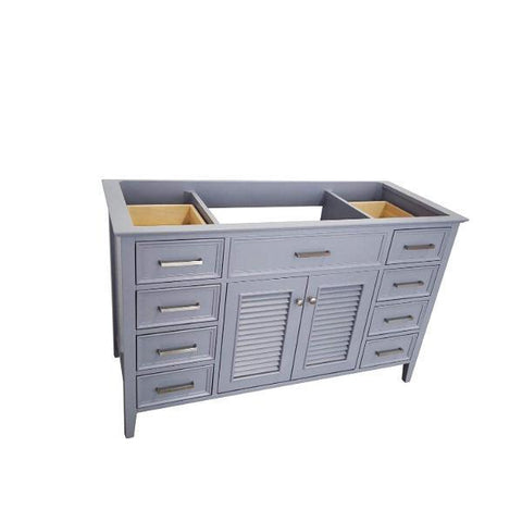 "Ariel Kensington 54"" Grey Transitional Single Sink Base Cabinet D055S-BC-GRY D049S-BC-GRY"