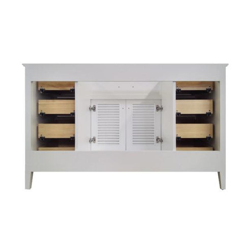 "Ariel Kensington 54"" White Transitional Single Sink Base Cabinet D055S-BC-WHT D055S-BC-WHT"