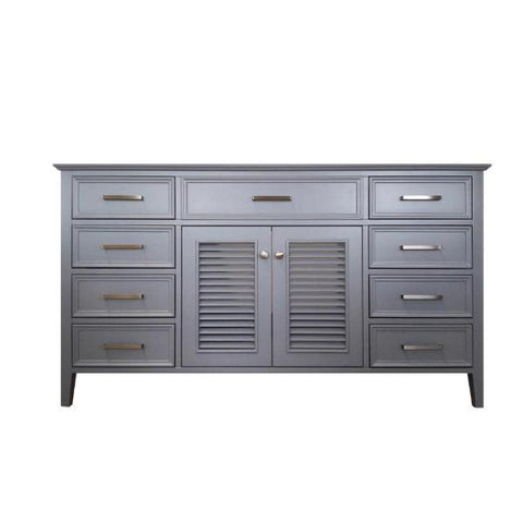 "Ariel Kensington 60"" Grey Transitional Single Sink Base Cabinet D061S-BC-ESP D055S-BC-GRY"