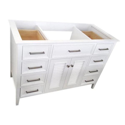 "Ariel Kensington 60"" White Transitional Single Sink Base Cabinet D061S-BC-WHT D061S-BC-ESP"
