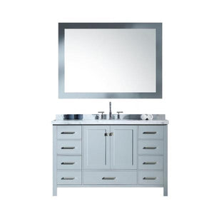 "Cambridge 55"" Grey Modern Rectangle Sink Bathroom Vanity A055S-CWR-GRY"