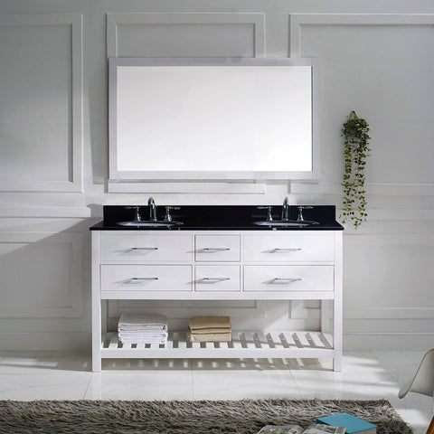 "Caroline Estate 60"" Double Bathroom Vanity MD-2260-BGRO-ES"