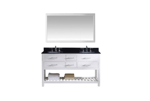 "Caroline Estate 60"" Double Bathroom Vanity MD-2260-BGRO-WH-010"