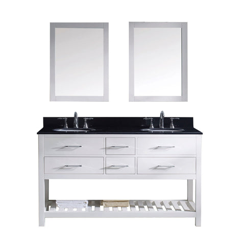"Caroline Estate 60"" Double Bathroom Vanity MD-2260-BGRO-WH"