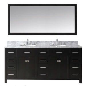 "Caroline Parkway 72"" Double Bathroom Vanity MD-2172-WMRO-ES"