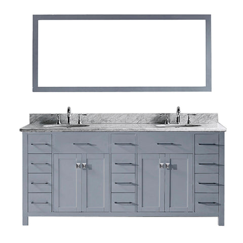 "Caroline Parkway 72"" Double Bathroom Vanity MD-2172-WMRO-GR"