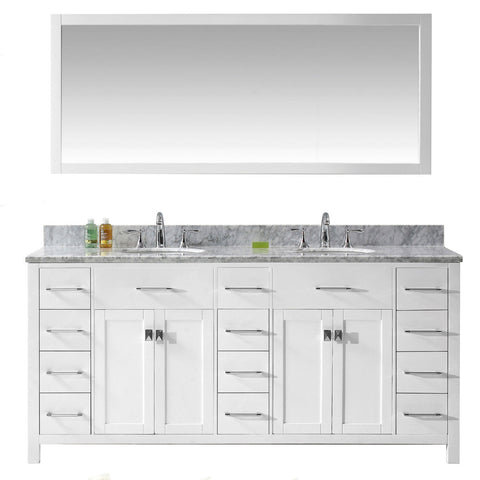 "Caroline Parkway 72"" Double Bathroom Vanity MD-2172-WMRO-WH"