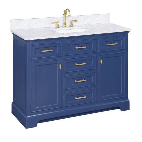 "Image of Design Element Milano 54"" Blue Single Rectangular Sink Vanity ML-54-BLU"