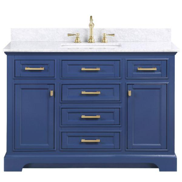 "Design Element Milano 54"" Blue Single Rectangular Sink Vanity ML-54-BLU"