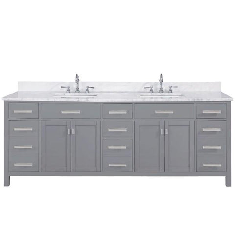 "Image of Design Element Valentino 84"" Gray Double Rectangular Sink Vanity V01-84-GY"