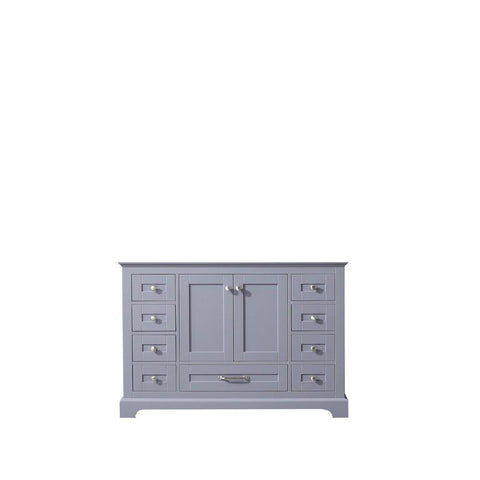 "Dukes 48"" Dark Grey Bathroom Organiser Bath Storage Vintage Vanity Cabinet Only LD342248SB00000"