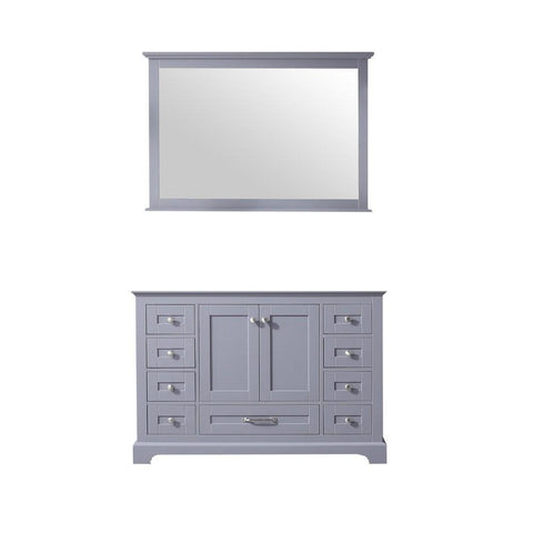 "Dukes 48"" Dark Grey Single Vintage Bathroom Vanity Cabinet & 46"" Wall Mirror LD342248SB00M46"