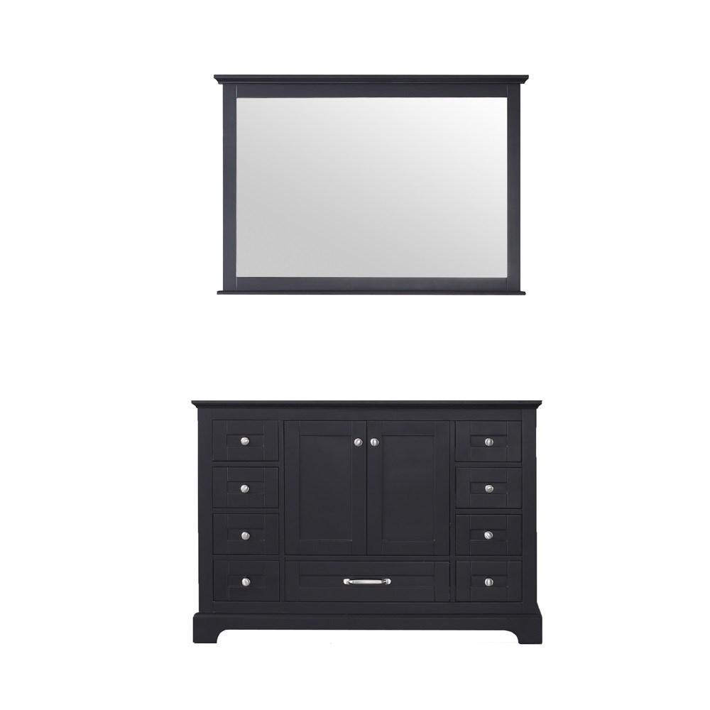 "Dukes 48"" Espresso Single Vintage Bathroom Vanity Cabinet & 46"" Wall Mirror LD342248SG00M46"