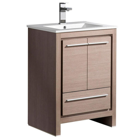 "Image of Fresca Allier 24"" Gray Oak Modern Bathroom Cabinet w/ Sink FCB8125GO-I"
