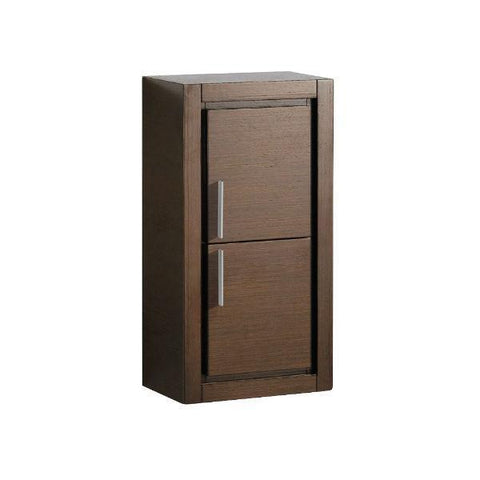 "Fresca Allier 24"" Wenge Brown Modern Single Bathroom Vanity w/ Mirror FVN8125 FVN8125WG-FFT1030BN"
