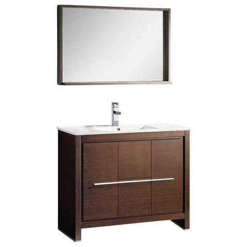 "Image of Fresca Allier 40"" Modern Bathroom Vanity FVN8140WG-FFT1030BN"