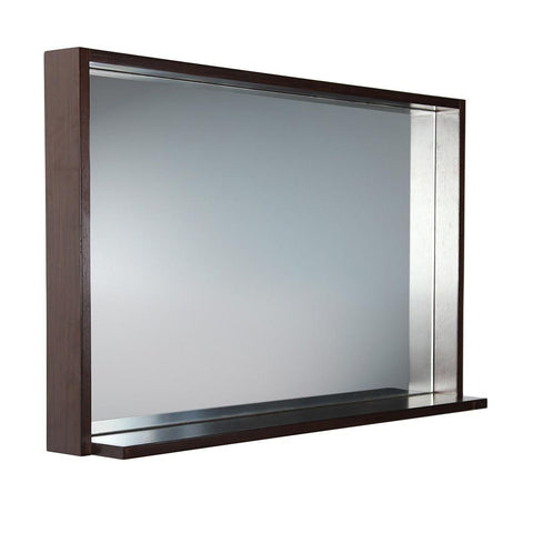 "Image of Fresca Allier 40"" Wenge Mirror with Shelf FMR8140WG"