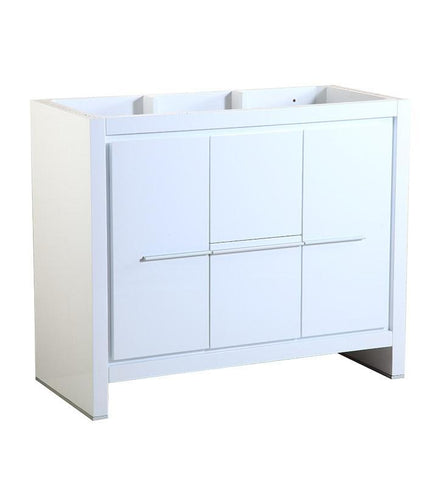 "Image of Fresca Allier 40"" White Modern Bathroom Cabinet FCB8140WH"