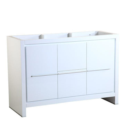 "Image of Fresca Allier 48"" White Modern Bathroom Cabinet FCB8148WH"