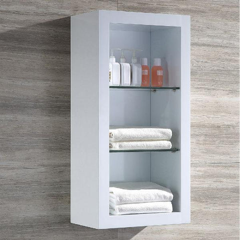 "Image of Fresca Allier 48"" White Modern Single Bathroom Vanity w/ Mirror FVN8148 FVN8148WH-FFT1030BN"