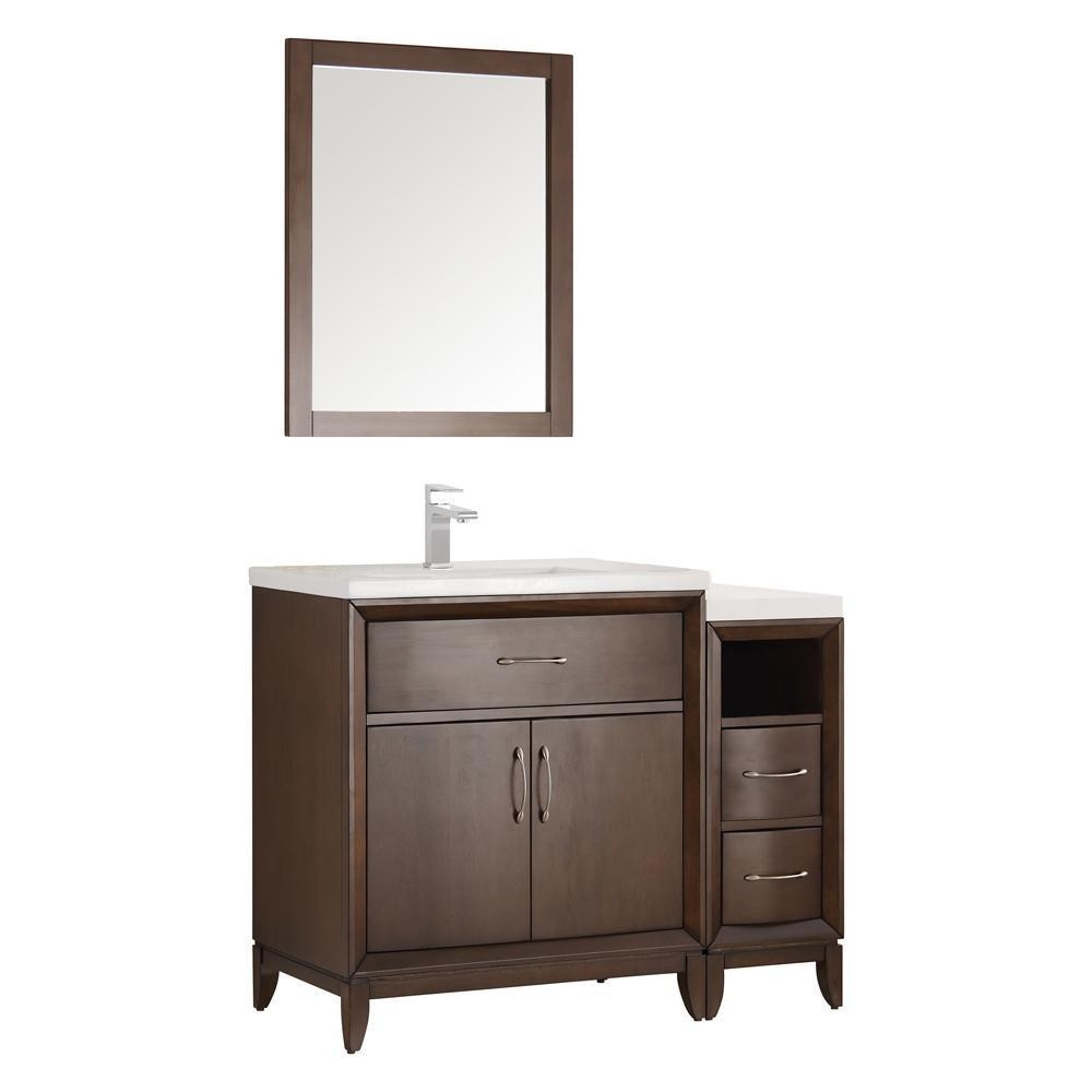 "Fresca Cambridge 42"" Bathroom Vanity FVN21-3012WH-FFT1030BN"
