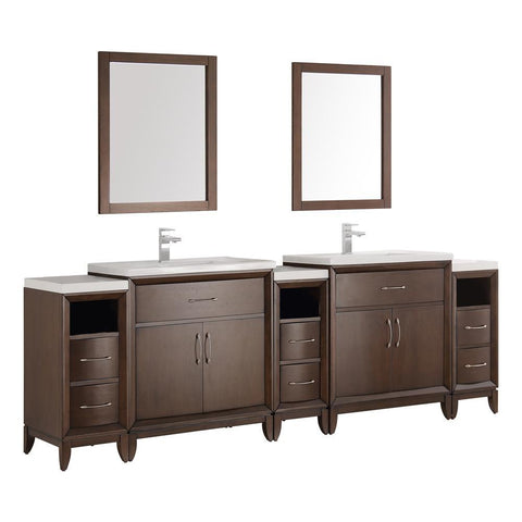"Fresca Cambridge 96"" Double Sink Vanity FVN21-96AC-FFT1030BN"