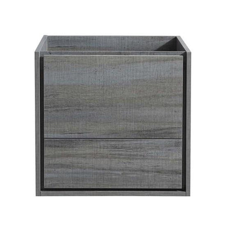"Image of Fresca Catania 24"" Ocean Gray Wall Hung Modern Bathroom Cabinet 