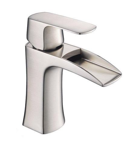 "Image of Fresca Catania 24"" White Bath Bowl Vessel Drain Vanity Set w/ Cabinet & Faucet FVN9224WH-FFT3071BN"